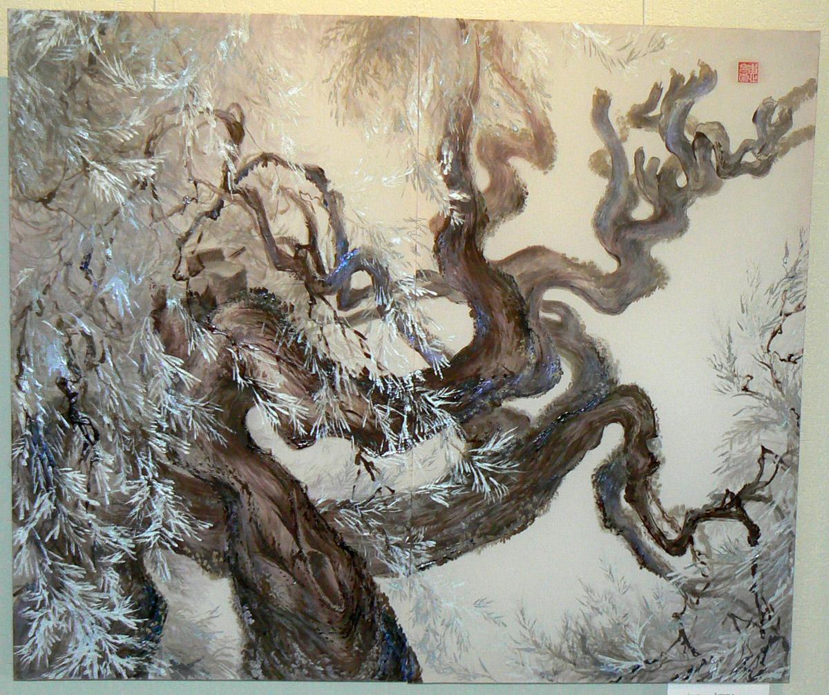 Елена Волкова. Деревья. Японские кипарисы